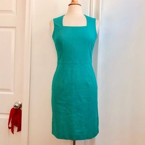 Banana Republic Emerald Green Sheath Dress 4 Small